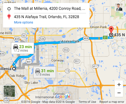 Map to winterpark